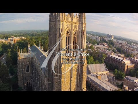 The Inauguration of Vincent E. Price, Tenth President of Duke University