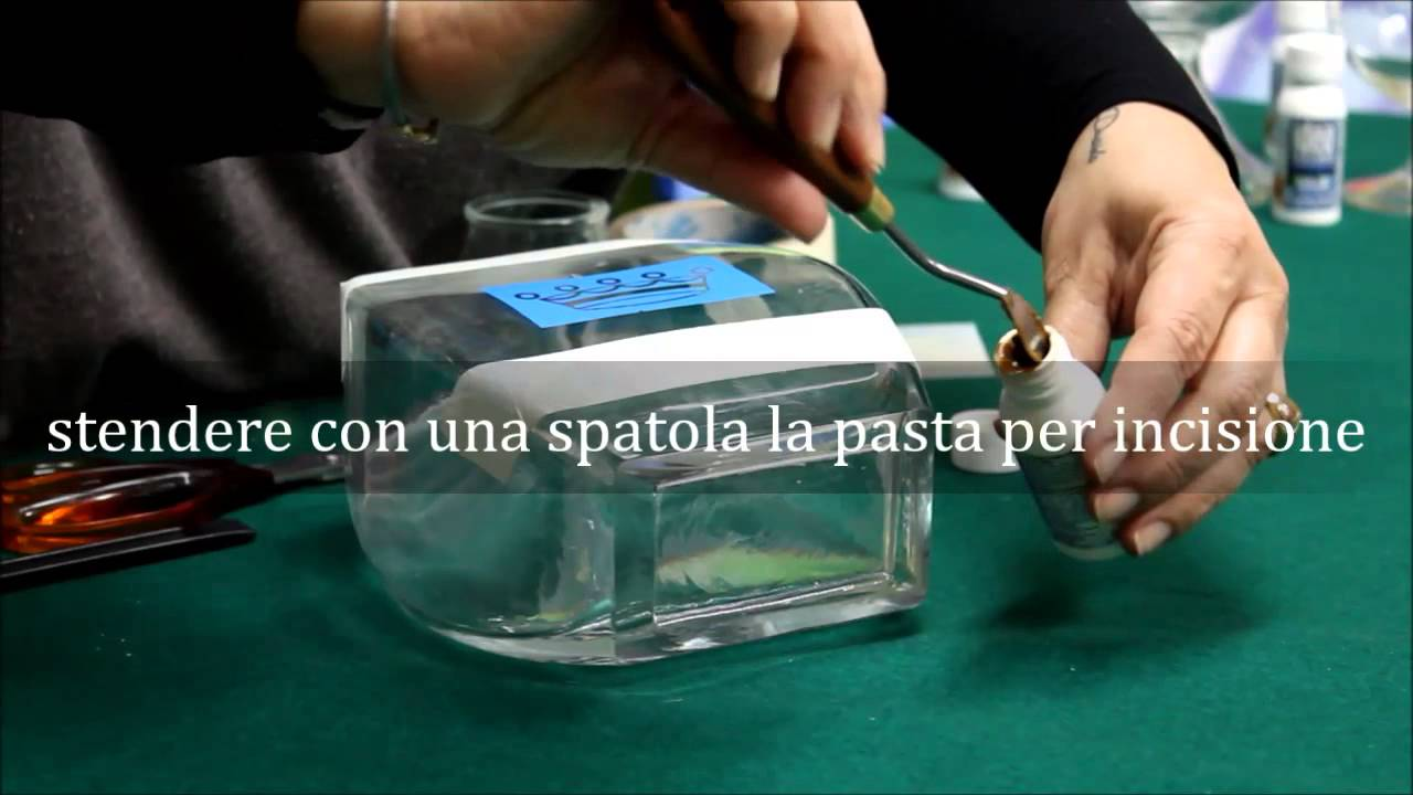 Popolare Idea Vetro - Pasta per incisione - YouTube PC27