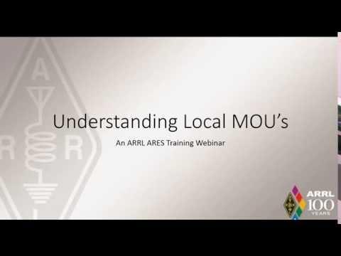 ARRL Webinar: Understanding MOUs
