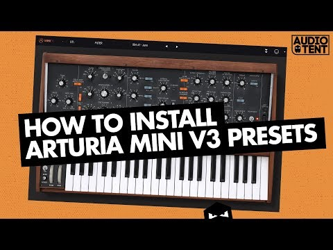 How To Install Arturia Mini V3 Presets Audiotent Elastic Melodic