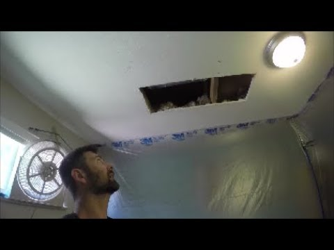 How To Repair a Water Damaged Ceiling | THE HANDYMAN |