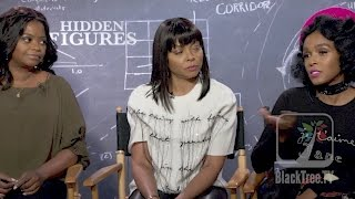 Taraji Henson, Octavia Spencer and Janelle Monae talk about John Glenn and Hidden Figures