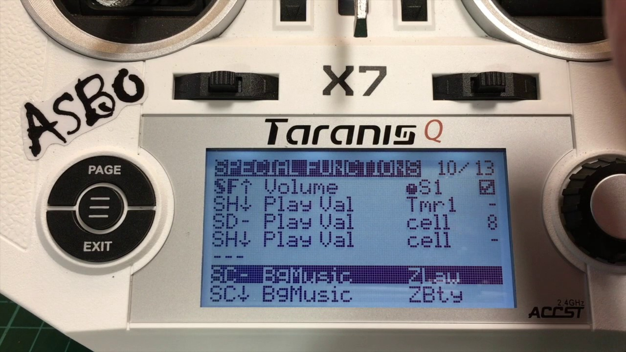 Taranis Q7 Background Music