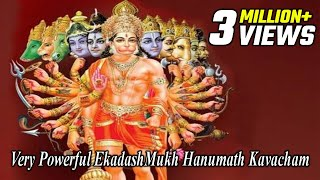 Powerful EkadashMukh Hanuman Kavacham | Mantra for Power and Strength