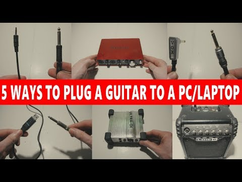 🎸 5 WAYS TO CONNECT A GUITAR INTO A PC/LAPTOP  💻