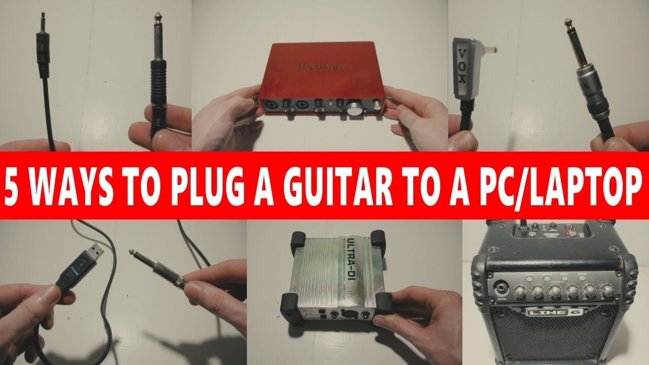 How to connect an electric guitar to a computer