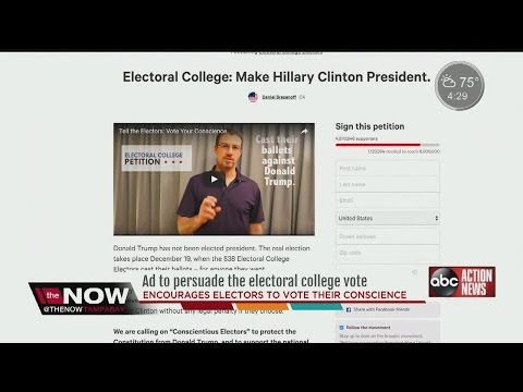 Group uses newspaper ads to call on electors to change votes