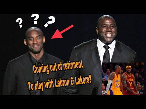 Kobe Bryant to come out retirement to play with Lebron James & Lakers?