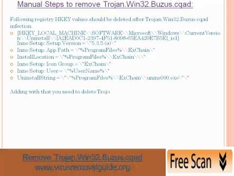 Remove Trojan.Win32.Buzus.cqad -- Easy Steps to Remove Trojan.Win32.Buzus.cqad