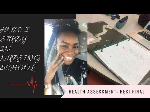 HOW I STUDY FOR FINALS - Nursing School | FREE ONLINE HESI BOOK | Health Assessment HESI Final