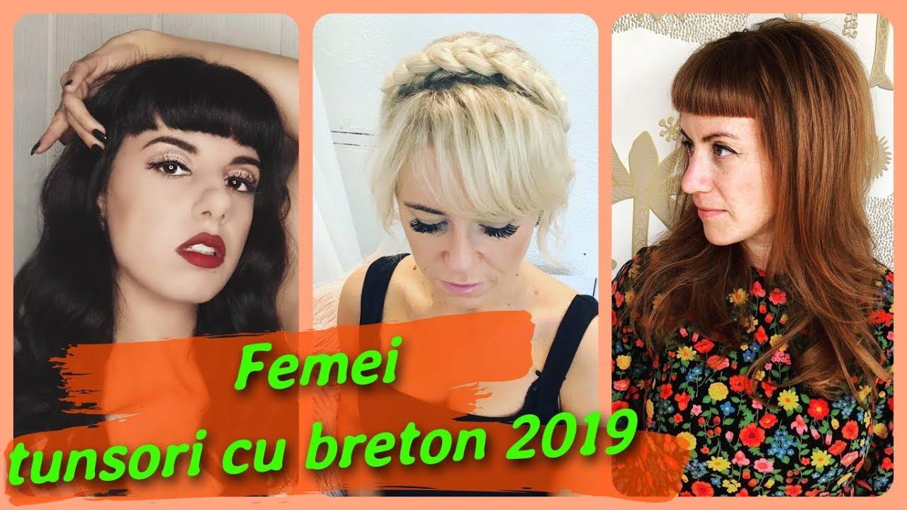 20 De Idei De Femei Tunsori Cu Breton 2019 Youtube