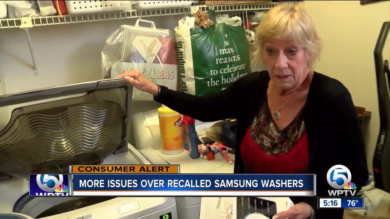 More issues over recalled Samsung washers