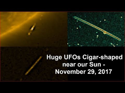 nouvel ordre mondial | Huge UFOs Cigar-shaped near our Sun - November 29, 2017