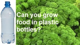 Can You Grow Vegetables In Plastic Drink Bottles?