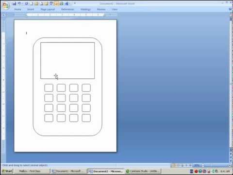 How to Draw a Phone in MS Word