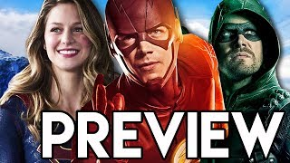 The Flash Supergirl Arrow Legends Four Night Crossover Preview Theory & Breakdown