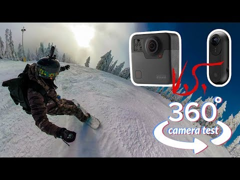 GoPro Fusion REAL WORLD TEST in 360: Snowboarding VS Insta360 ONE - Stabilization, Image quality.