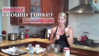Healthy Ground Turkey Recipe-Meatballs