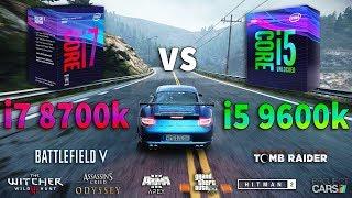 i5 9600k vs i7 8700k Test in 8 Games