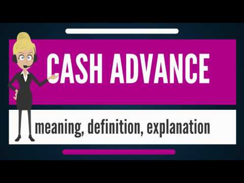 Видео What does cash advance mean