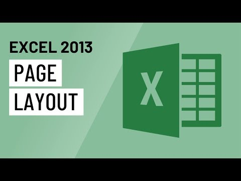 Excel 2013: Page Layout - YouTube