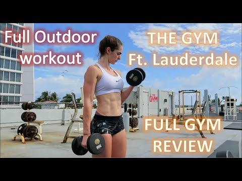 THE GYM Ft. Lauderdale Beach, full gym review and workout.