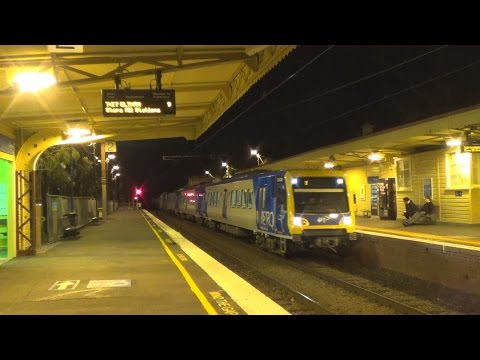 Metro Trains around Melbourne 2 ft.V/Line services at Werribee