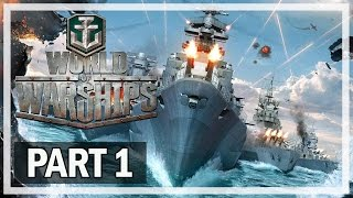 World of Warships Gameplay Part 1 Aoba - Lets Play (No Commentary)