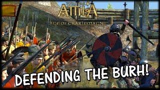 DEFENDING THE BURH! - Wessex v Danes - Age of Vikings Mod Siege Gameplay
