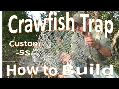 DIY Crawfish Trap Build  -My Custom -5$ Design-