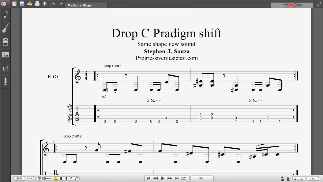 Drop C Paradigm Shift Same Shape New Sound Youtube
