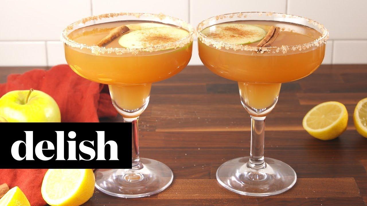 Apple Cider Margaritas   Delish - YouTube