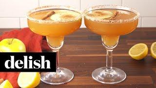 Get the full recipe from delish: http://www.delish.com/cooking/recipe-ideas/recipes/a55800/apple-cider-margaritas-recipe/ INGREDIENTS 2 c. apple cider 1/2 c.