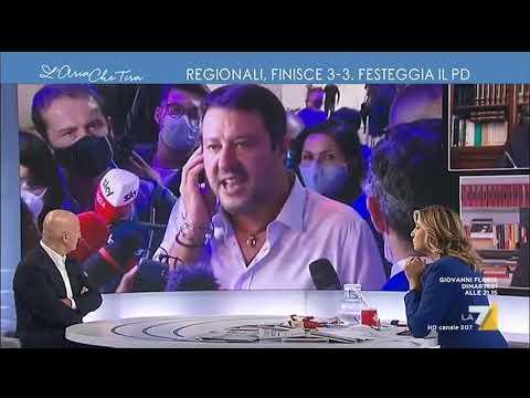 "Elezioni regionali, Myrta Merlino a Matteo Salvini: ""È giù di tono?"", ""Perché dovrei ..."