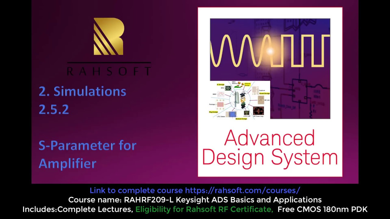 RFIC Design S parameter simulation of amplifier in ads advance design  system s parameter