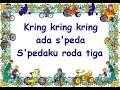 KRING KRING ADA SEPEDA (LIRIK) - Lagu Anak - Cipt. Pak Kasur - Musik Pompi S