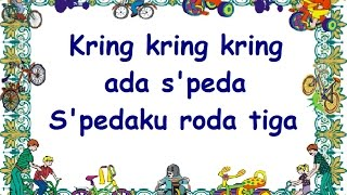 Gambar cover KRING KRING ADA SEPEDA (LIRIK) - Lagu Anak - Cipt. Pak Kasur - Musik Pompi S