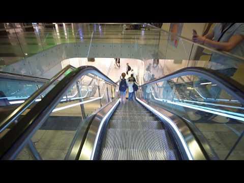 Sweden, Stockholm Central Station, 8X escalator ride