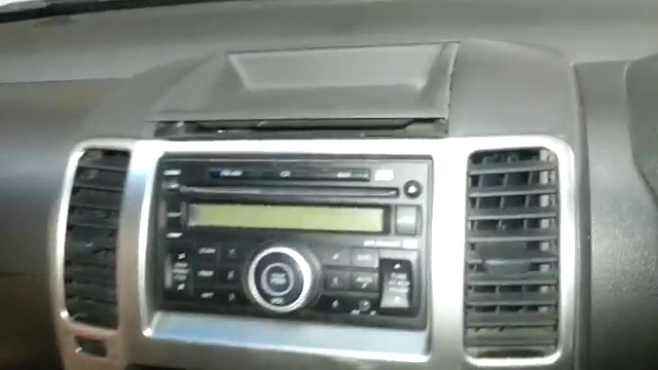 How To Remove The Radio From A Nissan Navara D40 Youtube
