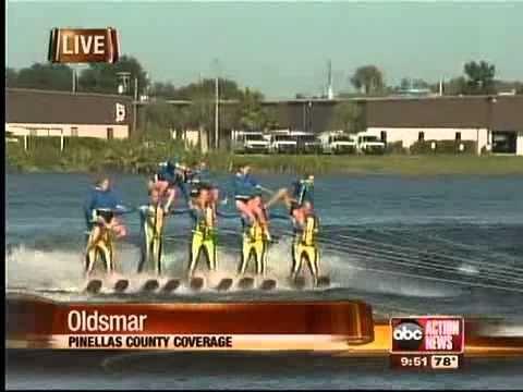 Tampa Bay Water Ski Team water skiing pyramids