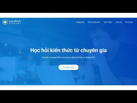Hướng dẫn thiết kế web học trực tuyến siêu tốc