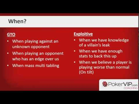 Poker Strategy Game Theory: GTO v Exploitative
