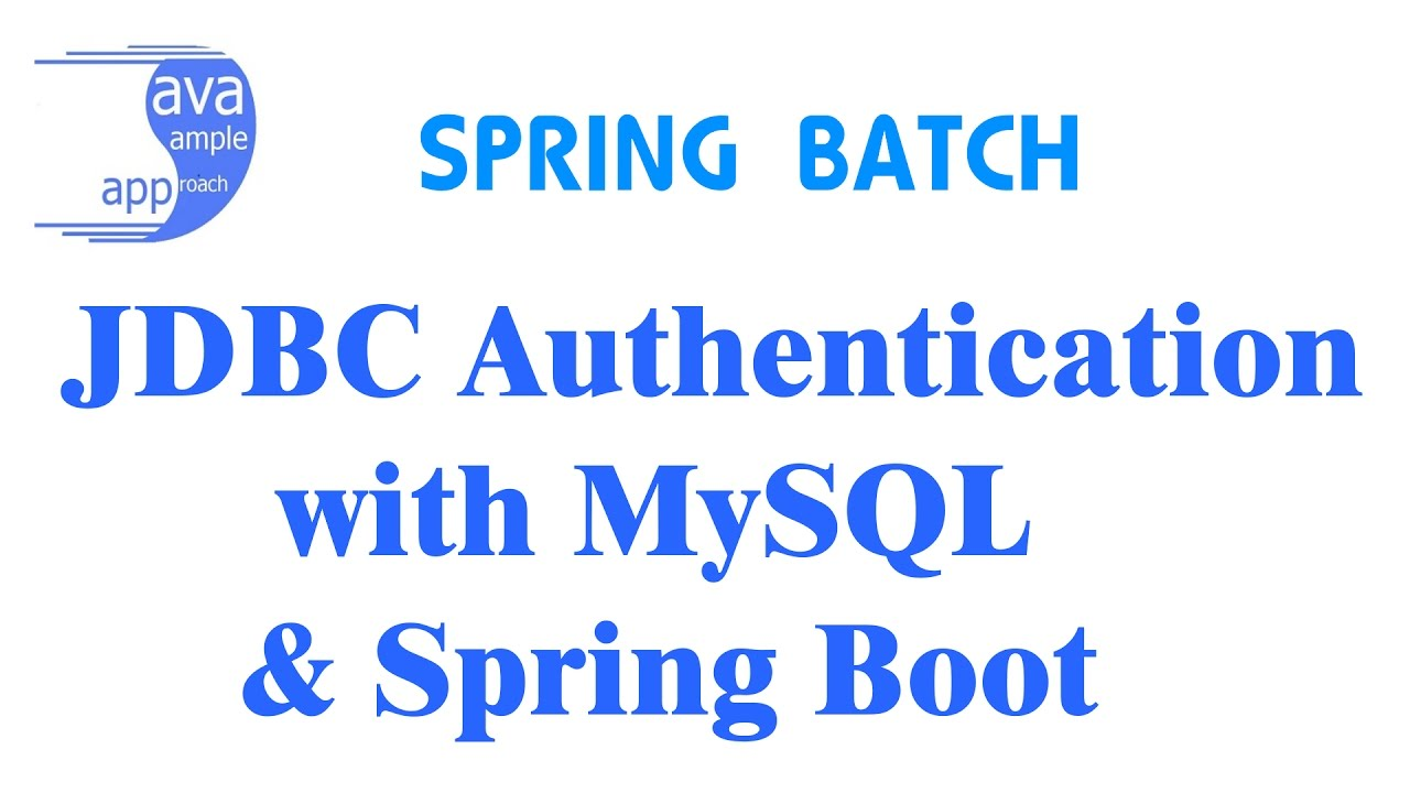 How to use Spring Security JDBC Authentication with MySQL & Spring Boot