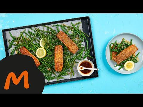 saumon-piquant-au-sésame-avec-haricots-verts-–-recette-migusto