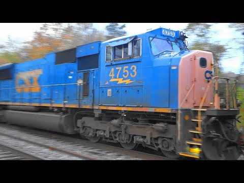 Thumbnail: CSX EMD SD70MAC On Mixed Freight Train