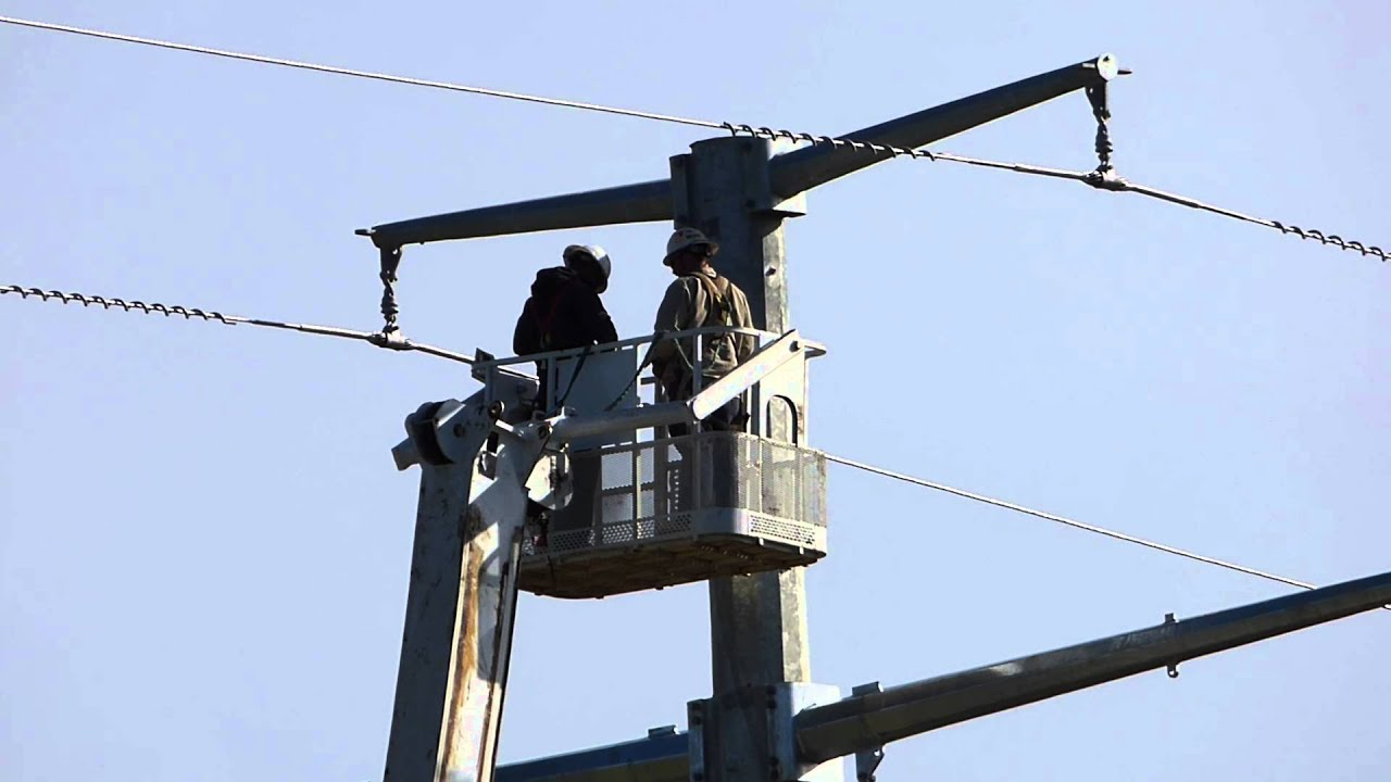 Static Wire Transmission Line 1 - YouTube