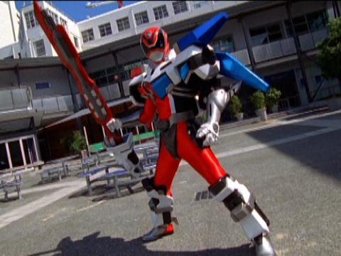 Sky the Red Ranger Morph and Battle | Power Rangers S.P.D. Episode 25