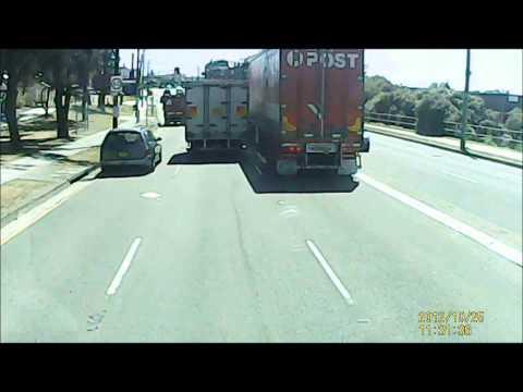 Australia Post truck near miss on Princess highway Australia