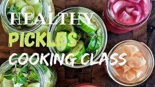 Super healthy pickled vegetable cooking class by World Cookbook Award winner Bridget Davis