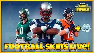 FORTNITE NFL FOOTBALL SKINS🏈 + FREE V-BUCKS GIVEAWAY (FORTNITE LIVE)